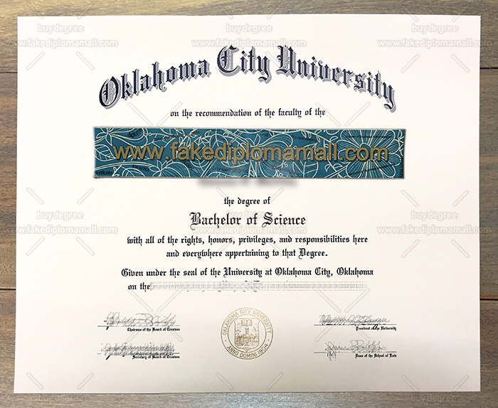 Oklahoma City University Fake Diploma