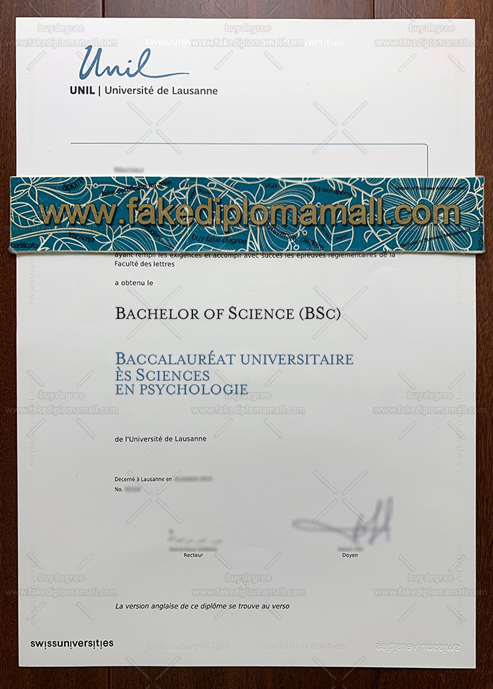 Fake UNIL Diploma Lausanne