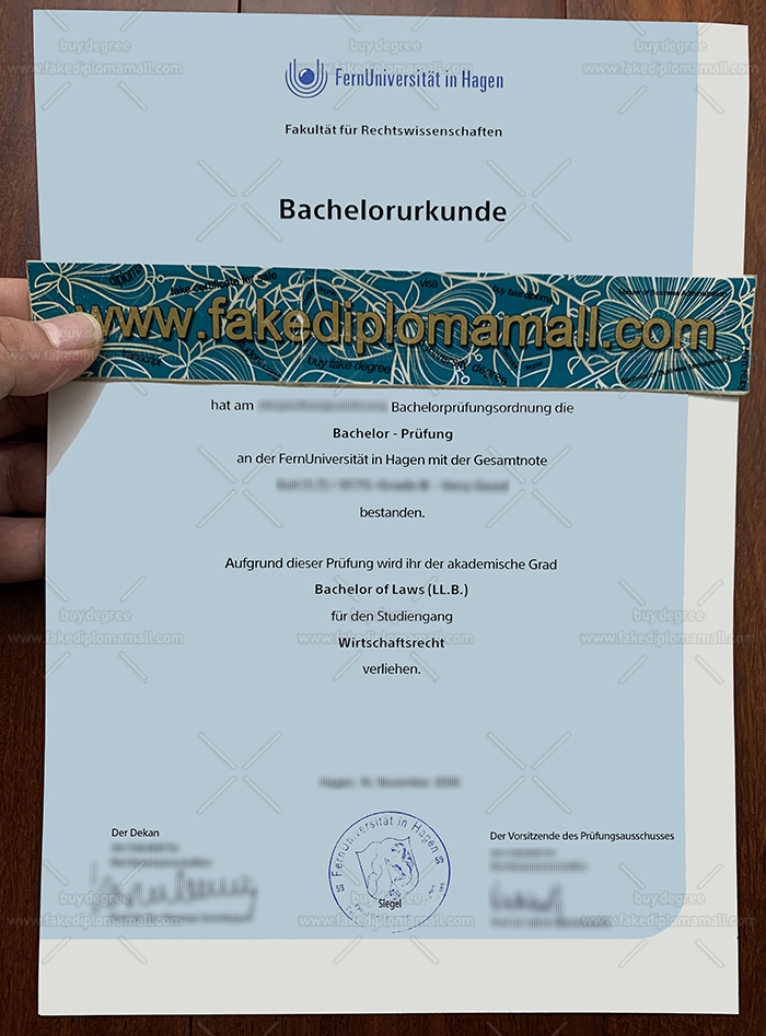 FU Hagne Degree, FernUniversität in Hagen Diploma, University of Hagen Fake Diploma