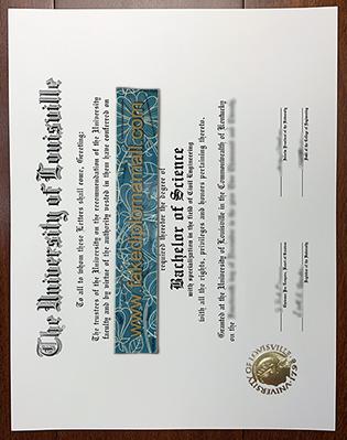 Buy Fake University of Louisville Diploma in Kentucky