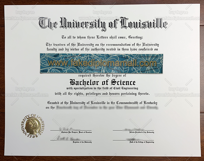 University of Louisville Fake Diploma