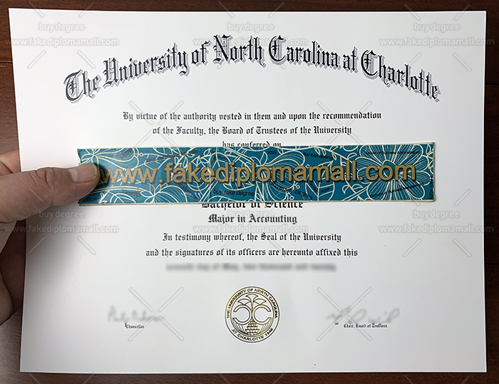 UNC Charlotte Fake Diploma