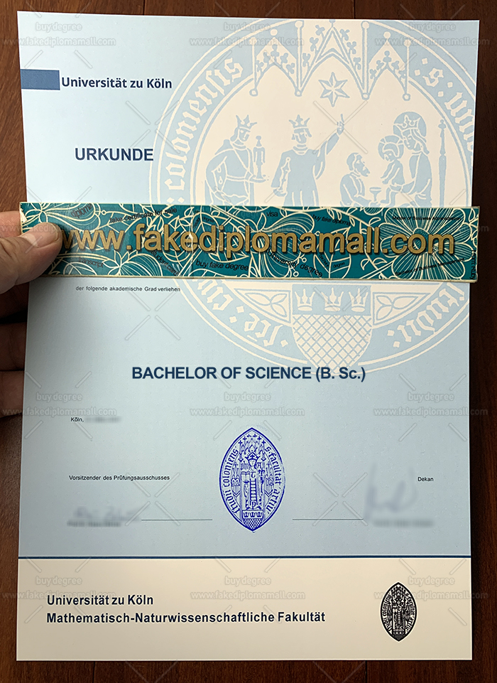 Universität zu Köln Fake Diploma, University of Cologne Diploma