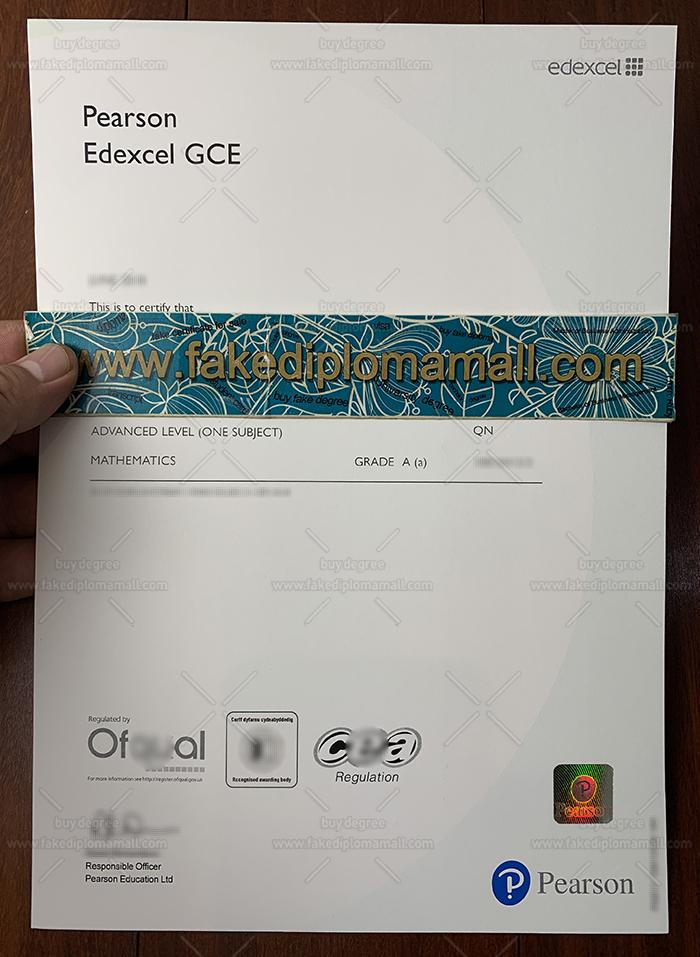 Pearson A level Certificate, Edexcel GCE fake Certificate