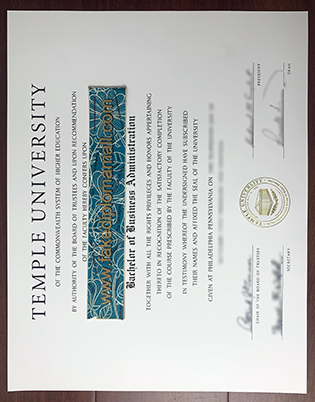 Verify Your Temple University Fake Diploma, The First Thing: A Correct Diploma Size