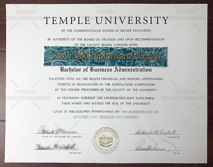 Temple University Fake Diploma