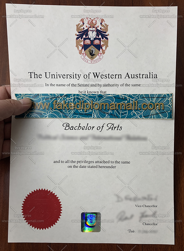 UWA Fake Diploma, The University of Western Australia Degree