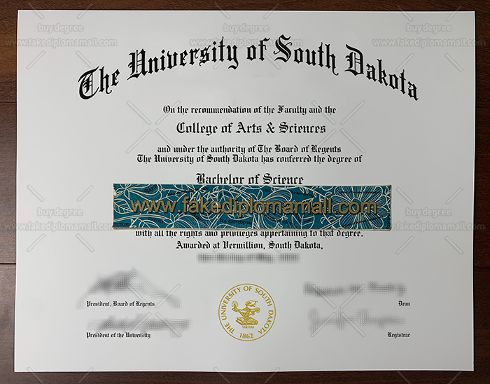 University of South Dakota Fake Diploma