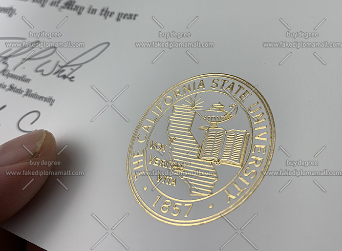 CSU Fresno Golden Foil Seal
