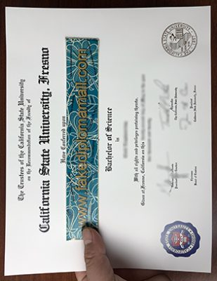 Cal State Fresno Fake Diploma, Fresno State University Degree Certificate