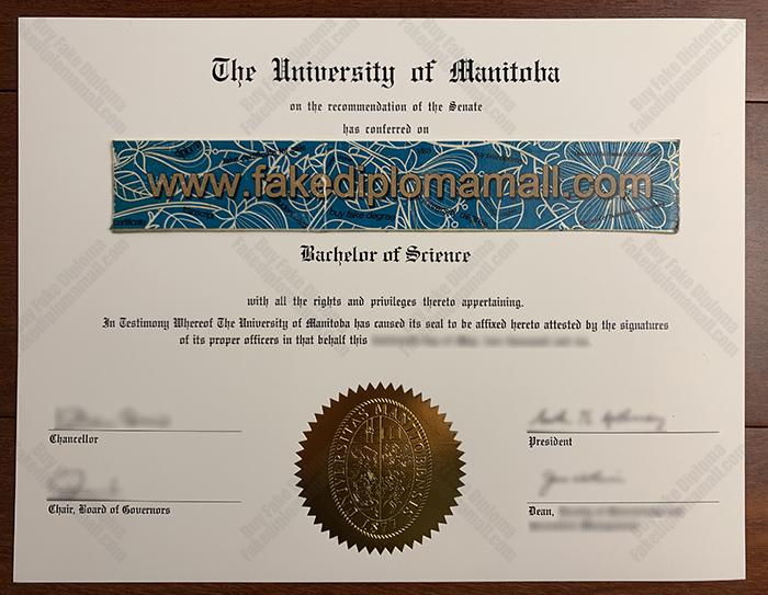 University of Manitoba Fake Diploma