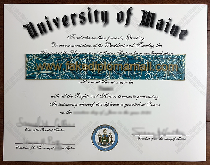 University of Maine Fake Diploma, UMaine Diploma