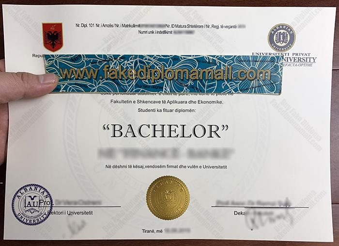 Albanian University Fake Diploma
