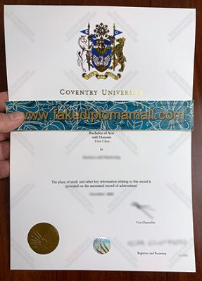 Will You Proud with the Coventry University Fake Degree Cert?