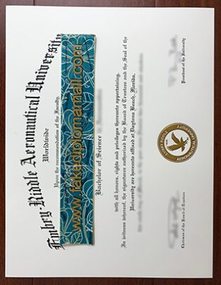 Embry–Riddle Aeronautical University (ERAU) Fake Diploma Samples