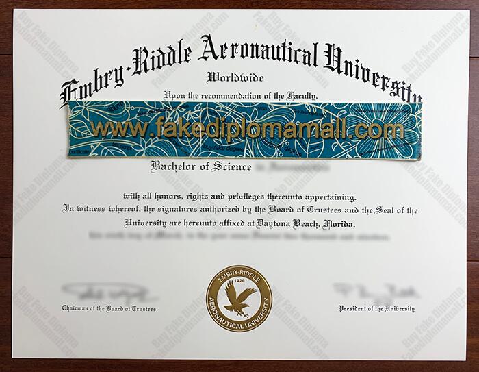 ERAU Diploma, Embry–Riddle Aeronautical University Fake Diploma