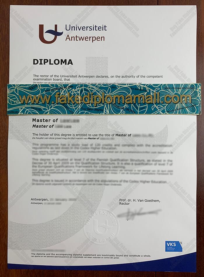 Universiteit Antwerpen Fake Diploma