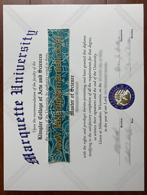 Buy the Fake Marquette University Diploma in Wisconsin