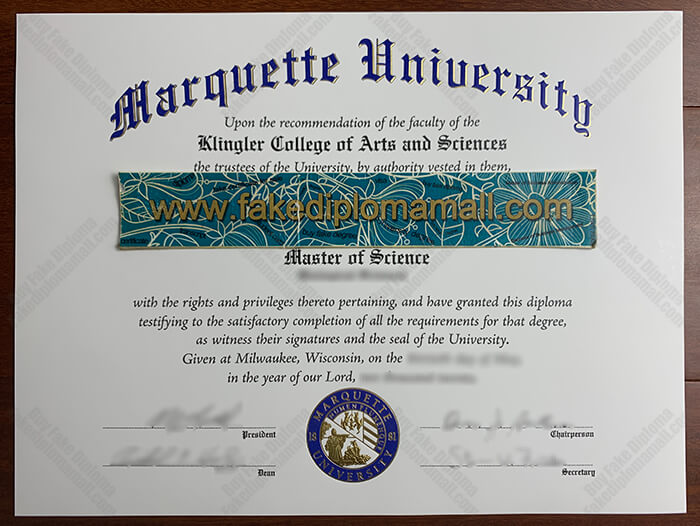 Marquette University Fake Diploma