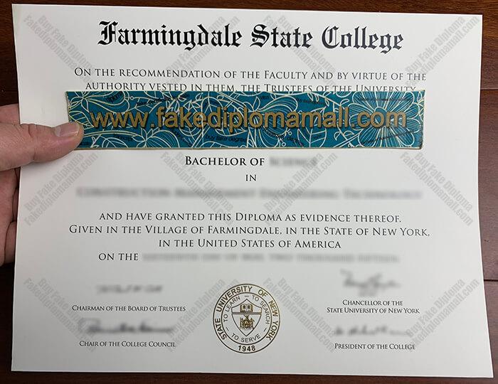 Farmingdale State College Fake Diploma