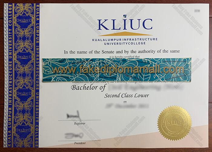 KLIUC Fake Diploma