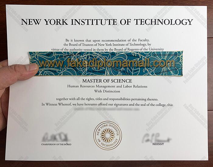 NYIT Fake Diploma