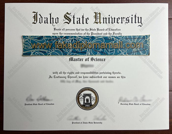 Idaho State University Fake Diploma