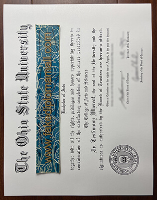How to Buy the Ohio State University Fake Diploma online?