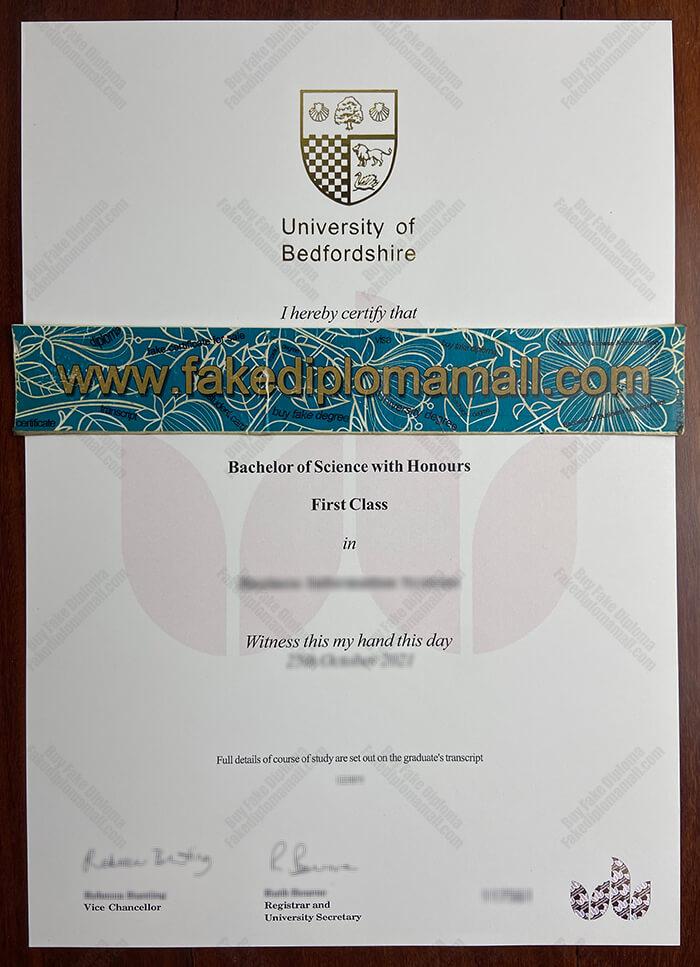 University of Bedfordshire Fake Diploma